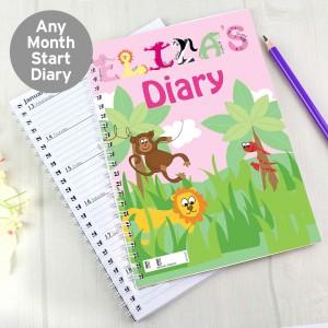 Girls Animal Alphabet Diary