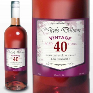 Rose Wine Vintage Age Label