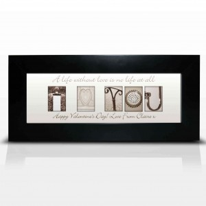 Affection Art I Heart You Small Frame