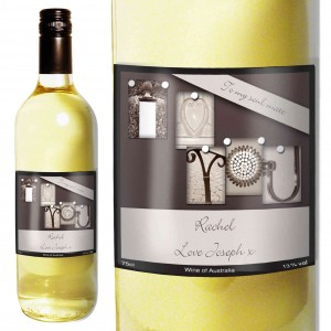 Affection Art I Heart U White Wine with Gift Box