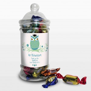 Mr Teacher Owl Toffee Jar