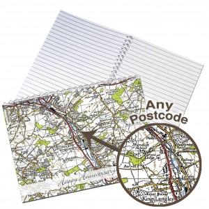1945 - 1948 New Popular Map Notebook