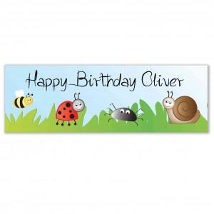 Birthday Bugs Banner