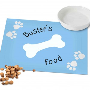 Blue Paw Print Dog Placemat