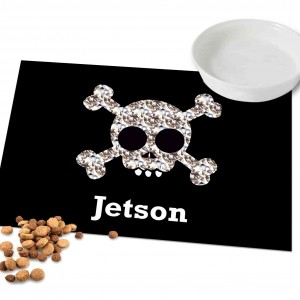 Skull and Crossbones Pet Placemat