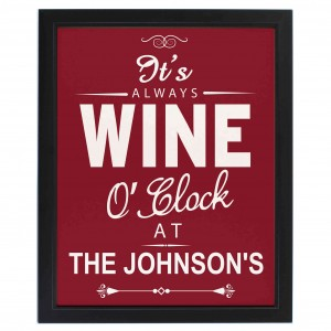 Wine OClock Framed Print
