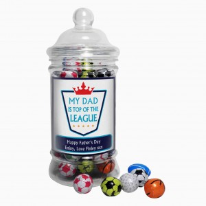 Top of the League Milk Chocolate Balls Jar