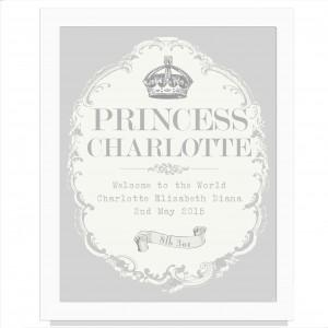 Royal Crown White Poster Frame