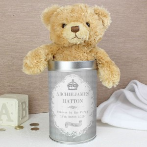 Royal Crown Teddy in a Tin