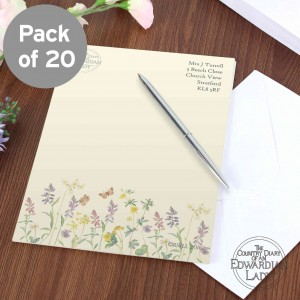 Country Diary Wild Flowers Stationery Set
