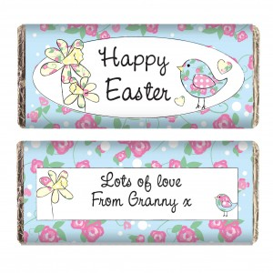 Daffodil & Floral Chick Easter Milk Chocolate Bar