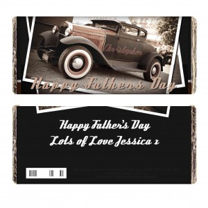 Classic Car Father's Day Milk Chocolate Bar