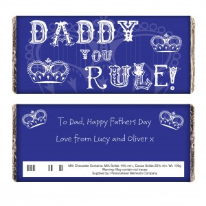 Daddy You Rule Milk Chocolate Bar