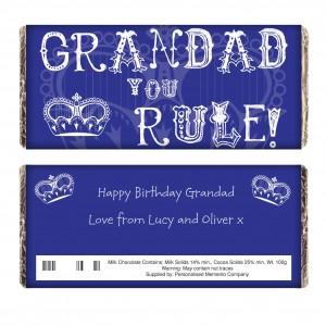 Grandad You Rule Milk Chocolate Bar