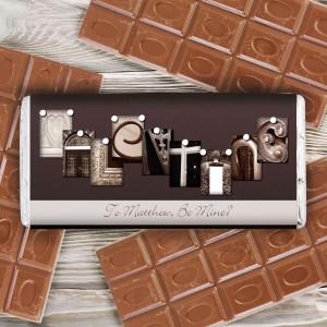 Affection Art Valentine Chocolate Bar