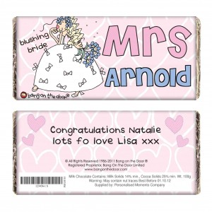 Bang on the Door Wedding Bride Chocolate Bar