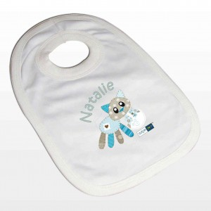 Cotton Zoo Calico the Kitten Bib