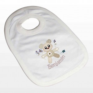 Cotton Zoo Boys Tweed the Bear Bib
