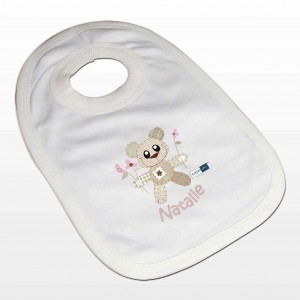 Cotton Zoo Girls Tweed the Bear Bib