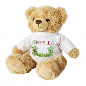 Girls Animal Alphabet Message Bear