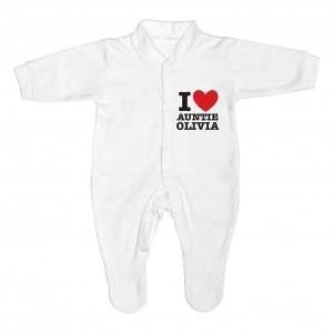 I HEART 0-3 Months Babygrow