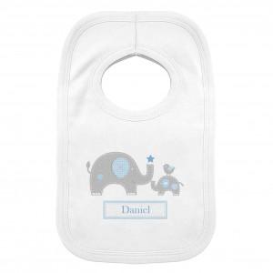 Blue Elephant 0-3 Months Baby Bib