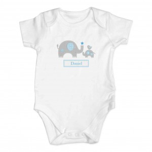 Blue Elephant 0-3 Months Baby Vest