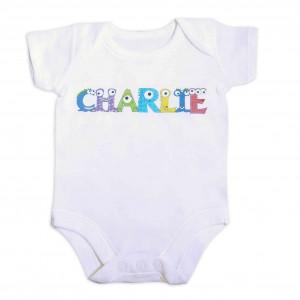 Monster Alphabet Baby Vest