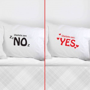 Yes/No Single Pillowcase