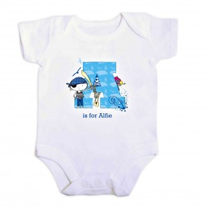 Pirate Letter Baby Vest