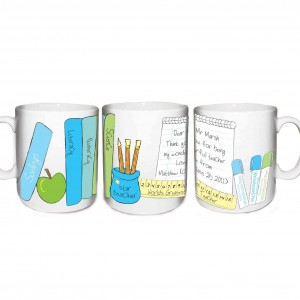 Male Teacher Books Mug