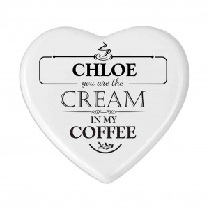 Cream in my Coffee Heart Coaster