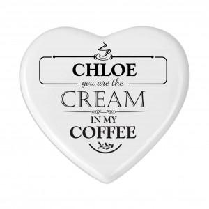 Cream in my Coffee Heart Coaster