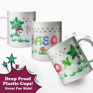 Animal Alphabet Plastic Cup