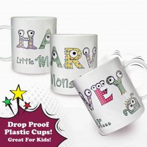 Monster Alphabet Plastic Cup