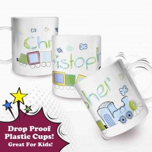 Train Plastic Cup