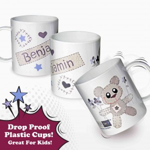 Cotton Zoo Tweed the Bear Boys Plastic Cup