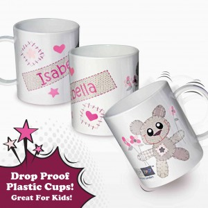 Cotton Zoo Tweed the Bear Girls Plastic Cup