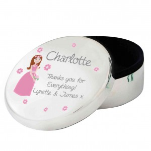 Fabulous Wedding Round Trinket Box