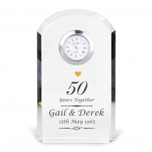 Golden Anniversary Crystal Clock