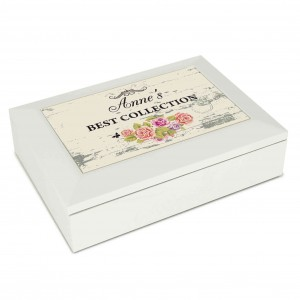 Shabby Chic White Jewellery Box