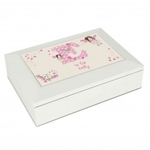 Fairy Letter White Jewellery Box