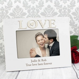 Love White 6x4 Photo Frame