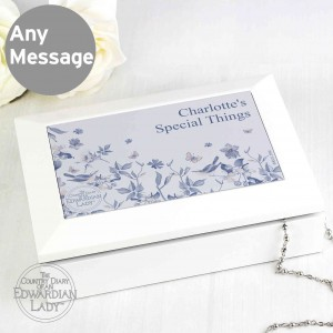 Country Diary Blue Blossom Jewellery Box
