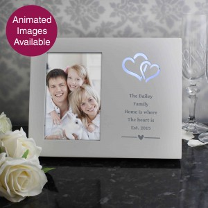 Hearts Any Message 6x4 Light Up Frame