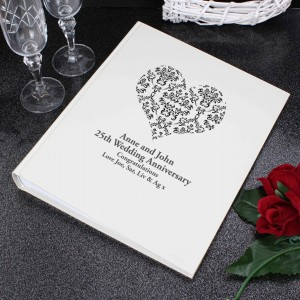 Black Damask Heart Traditional Album