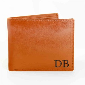 Tan Initials Wallet