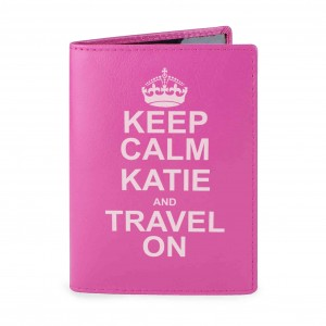 Keep Calm Pink Passport Holder