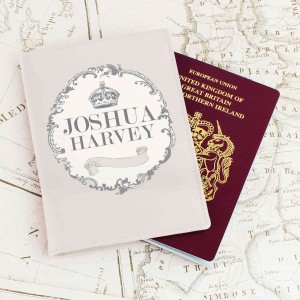 Royal Crown Cream Passport Holder
