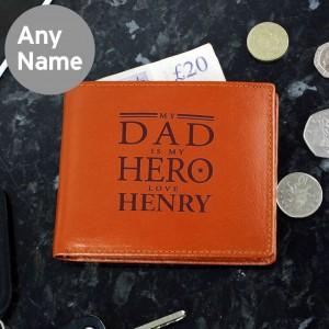 My Dad is My Hero Tan Wallet